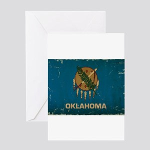 Oklahoma State Flag VINTAGE Greeting Cards