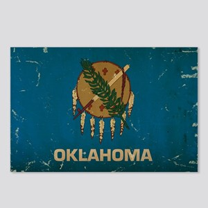 Oklahoma State Flag VINTAGE Postcards (Package of