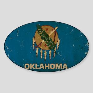 Oklahoma State Flag VINTAGE Sticker