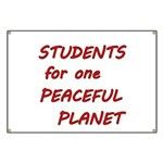 Students for one Peaceful Planet Banner