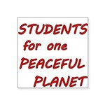 Students for one Peaceful Planet Sticker