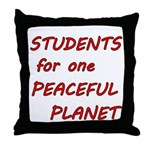 Students for one Peaceful Planet Throw Pillow