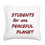 Students for one Peaceful Planet Square Canvas Pil