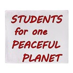 Students for one Peaceful Planet Throw Blanket