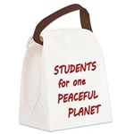 Students for one Peaceful Planet Canvas Lunch Bag