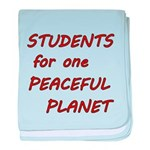 Students for one Peaceful Planet baby blanket