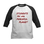 Students for one Peaceful Planet Baseball Jersey