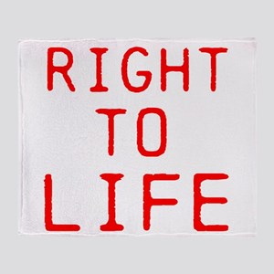 Right to Life Throw Blanket