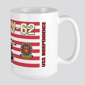 CV-62 USS Independence Large Mug