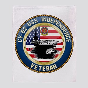 CV-62 USS Independence Throw Blanket