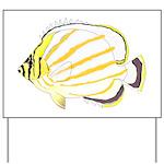 Ornate Butterflyfish Yard Sign