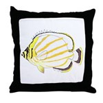 Ornate Butterflyfish Throw Pillow
