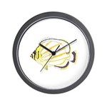 Ornate Butterflyfish Wall Clock