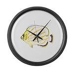 Ornate Butterflyfish Large Wall Clock