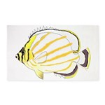 Ornate Butterflyfish 3'x5' Area Rug