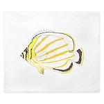 Ornate Butterflyfish King Duvet