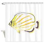 Ornate Butterflyfish Shower Curtain