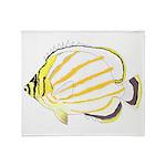 Ornate Butterflyfish Throw Blanket