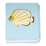 Ornate ButterflyFish C baby blanket
