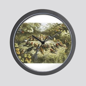 Fairy and Bird drawing Wall Clock