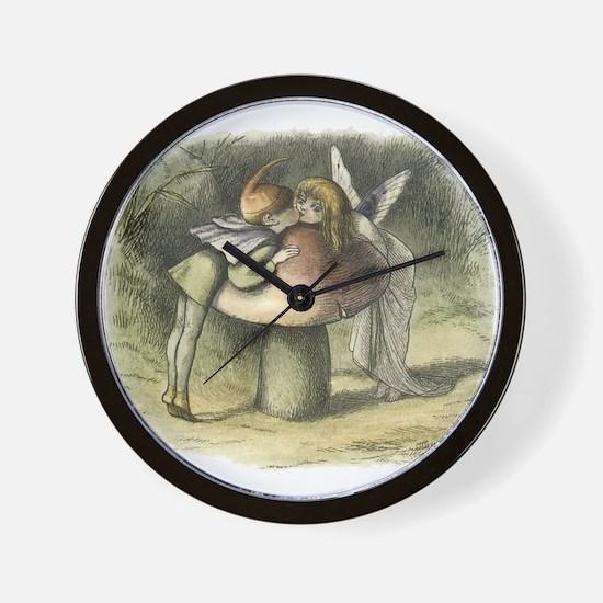 A Fairy Kiss Wall Clock