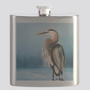 Great Blue Heron Flask