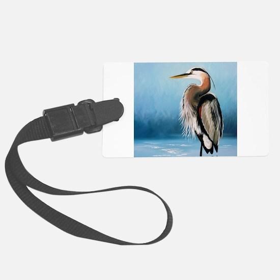Great Blue Heron Luggage Tag