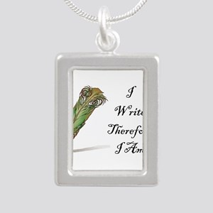 I Write Therefore I Am Necklaces