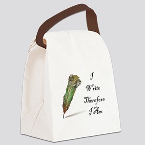 I Write Therefore I Am Canvas Lunch Bag