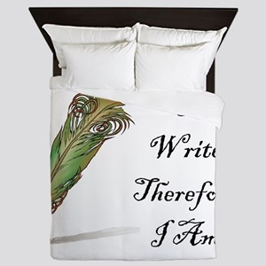 I Write Therefore I Am Queen Duvet