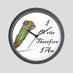 I Write Therefore I Am Wall Clock
