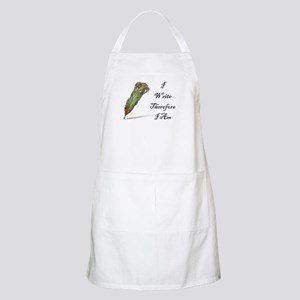 I Write Therefore I Am Apron