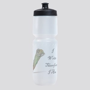 I Write Therefore I Am Sports Bottle