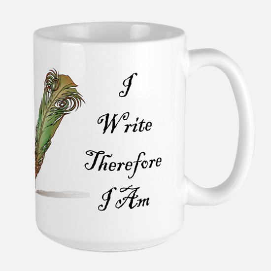 I Write Therefore I Am Mugs