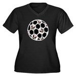 USA Soccer Women's Plus Size V-Neck Dark T-Shirt