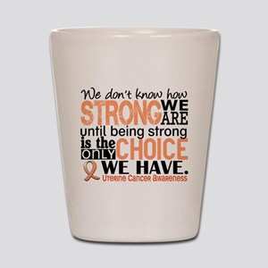Uterine Cancer How Strong We Are Shot Glass