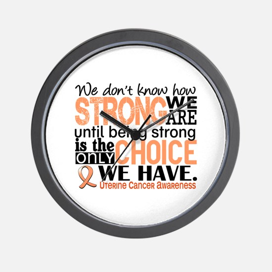 Uterine Cancer How Strong We Are Wall Clock