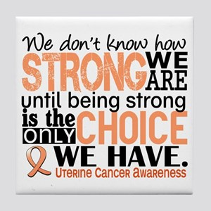 Uterine Cancer How Strong We Are Tile Coaster