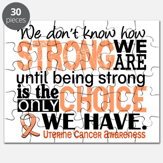 Uterine Cancer How Strong We Are Puzzle