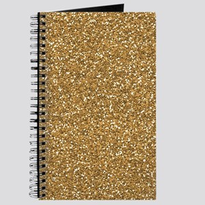 Gold Faux Glitter Journal