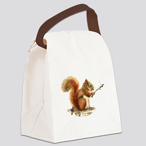 Fun Red Squirrel Roasting Marshmallows Canvas Lunc