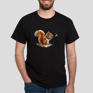 Fun Red Squirrel Roasting Marshmallows T-Shirt