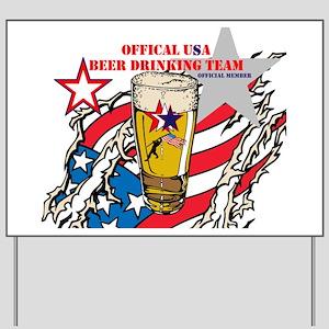 US Beer Drinking Team Yard Sign