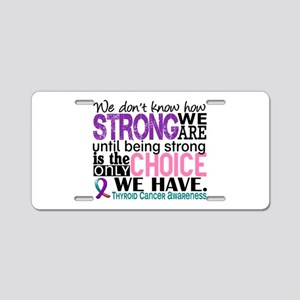 Thyroid Cancer How Strong W Aluminum License Plate