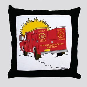 Squad 51 Throw Pillow