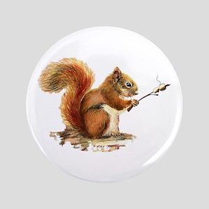 "Fun Red Squirrel Roasting Marshmallows 3.5"" B"