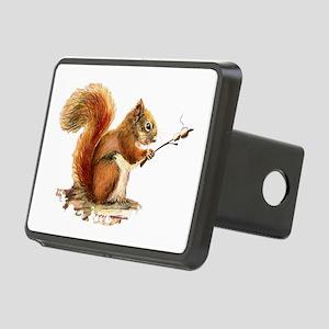Fun Red Squirrel Roasting Marshmallows Rectangular