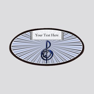 Customizable Blue Treble Clef and Heart Patches