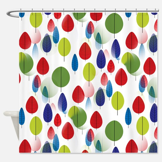 Colorful Forest Leaves Shower Curtain