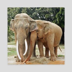 ELEPHANT LOVE Queen Duvet
